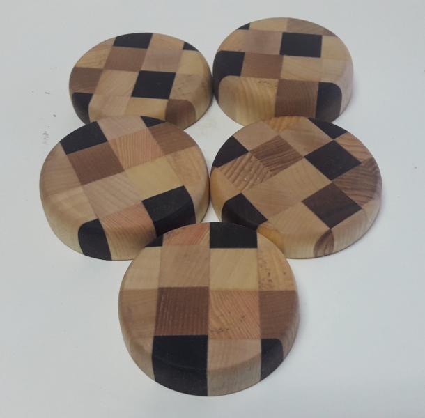 verleimte Holz-Untersetzer