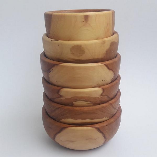 Apfelholz-Schüsseln