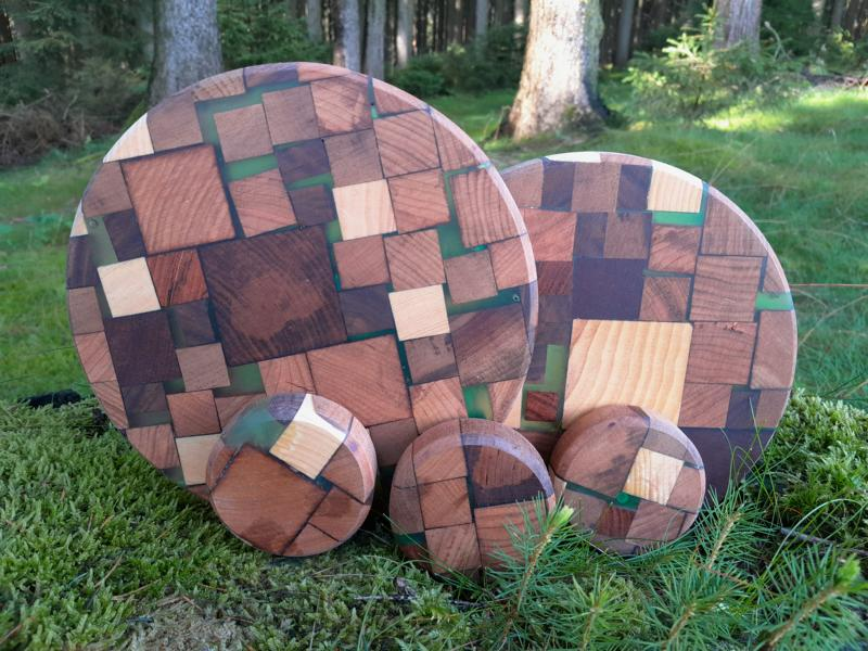 Holzuntersetzer